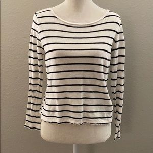 ZARA black and white striped long sleeve
